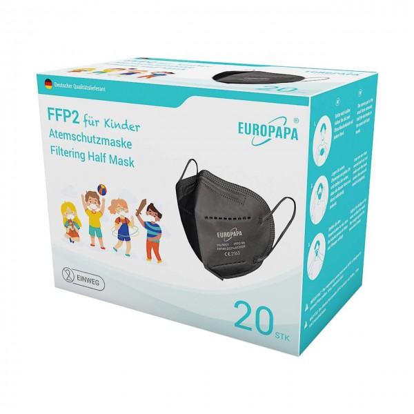 Schwarze FFP2 Masken für Kinder